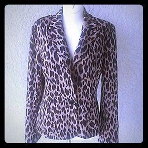 Spiegel Leopard Print Blazer
